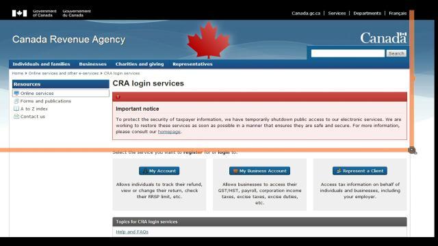 Canada Revenue Agency Shuts Down Part Of Website Video Bnn