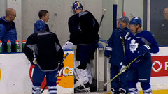 Maple Leafs' Reimer leaves practice early
