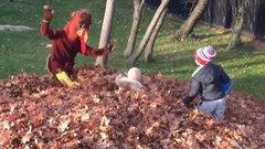 Ford Must See: Brady surprises/scares his kids dressed as a turkey