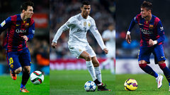 Messi, Neymar and Ronaldo among Ballon d'Or finalists for Player of the Year