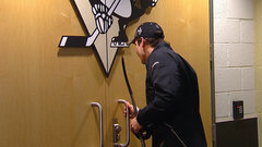 THE WORST: Crosby gets locked out of dressing room.