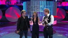 Ed Sheeran and Sarah Hyland