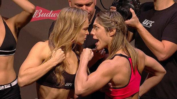 Rousey and Correia's final stare down
