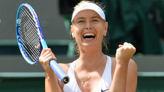 Sharapova reaches Wimbledon quarterfinals