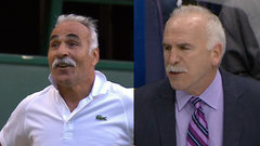 Does Joel Quenneville have a twin brother at Wimbledon?