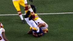 Must See: Ravens, Redskins brawl after pile driver tackle