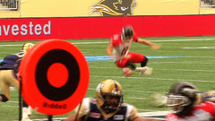 CFL Must See: Jones lays out to block punt
