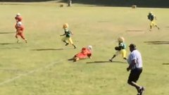 Must See: Nine-year-old flies by defence for TD