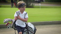 Must See: Young one-armed golfer shows off swing