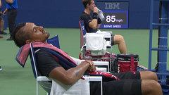 Must See: Kyrgios falls asleep between sets