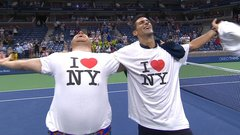 Must See: Djokovic plays along with fan