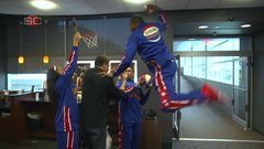 Must See: The Globetrotters posterize ESPN employees