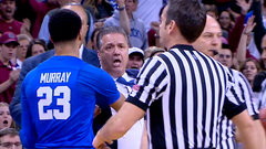 Must See: Calipari loses it; tossed two minutes in