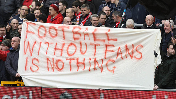 Liverpool fans leave game in disgust of ticket prices