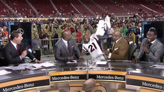 Must See: Talib slips and falls on NFL Network set
