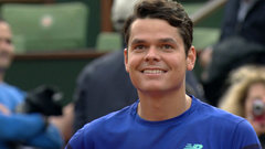 Raonic shows off his French after second round win
