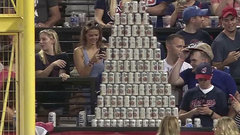 Must See: Indians fans create awesome beer can pyramid