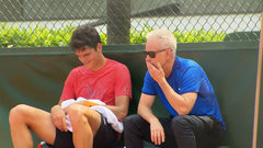 Raonic, McEnroe practice together for the first time