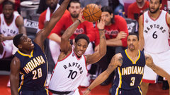Raptors bent, but didn't break to outlast Pacers