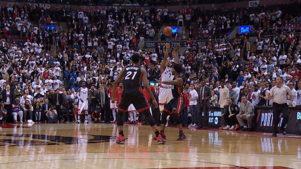 Must See: Lowry ties game with half-court buzzer-beater