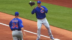 Must See: Ball gets stuck in glove; Lester tosses glove