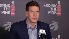 Raptors introduce draft pick Poeltl