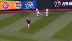 Must See: Fan runs onto field during live play