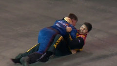 Must See: Crash ends in pathetic grappling fist fight