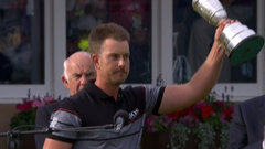 Stenson receives the Claret Jug