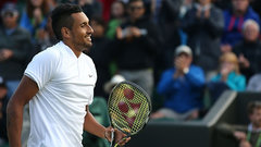 Kyrgios enters third round with usual antics