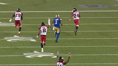 CFL In-Game: Burnett completes pick-six