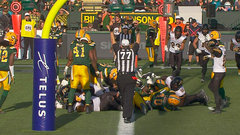 CFL In-Game: Ticats score on back-to-back drives