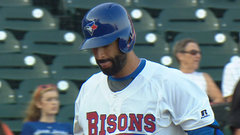 Bautista goes hitless in rehab game