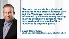 Rosenberg: Toronto housing a 'sud' compared to Vancouver's bubble